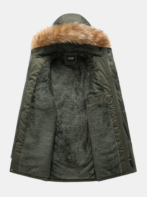 Bearboxers Menswear - Multi Pocket Detachable Faux Fur Hooded Parka