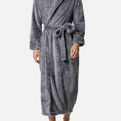 Flannel Thick Warm Winter Full Length Pajamas Sleepwear Robe