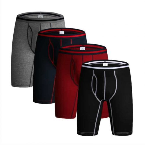 Bearboxers 4 Pcs/Lot Men's Extra Long Boxers