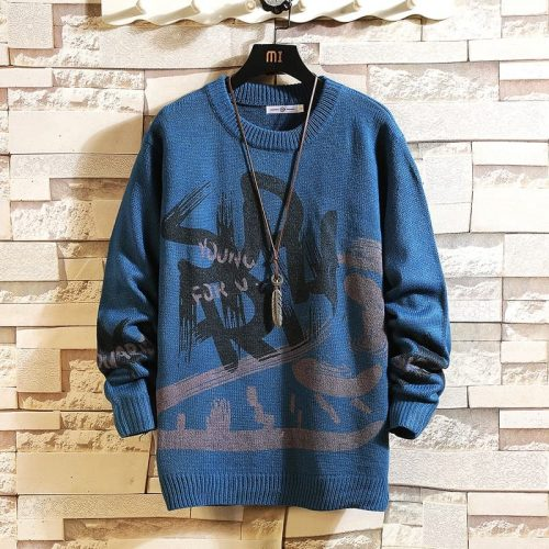 BearboxersLance Donovan Knitted Sweater Blue