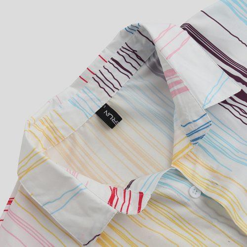 Mens Creative Splashing Ink Short Sleeve Stylish Fashion Shirt