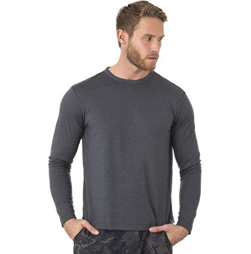 Merino Wool Long Sleeve T-Shirt Wicking Breathable Anti-Odour